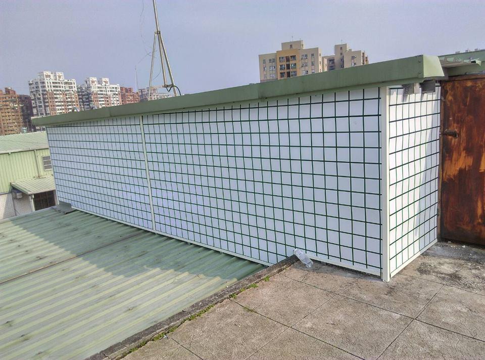頂樓磁磚牆面-更換後